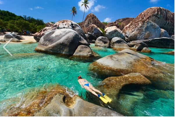 Photo of the Baths in Virgin Gorda