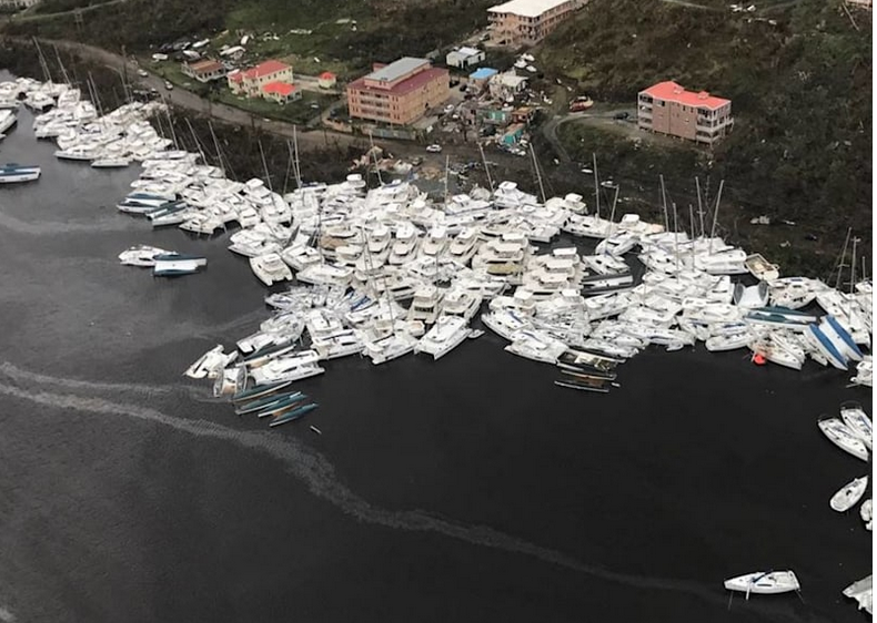 Virgin Gorda after effects from Hurricane Irma and Maria