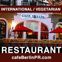 Cafe Berlin Vegetarian Vegan restaurant in Old San Juan Puerto Rico Caribbean